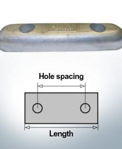 Anodi di blocco e di fusoliera Blocco L350/200 (Zinco)   9343