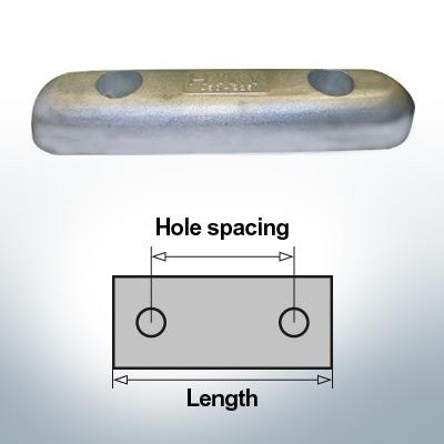 Anodi di blocco e di fusoliera Blocco L350/200 (AlZn5In) | 9343AL