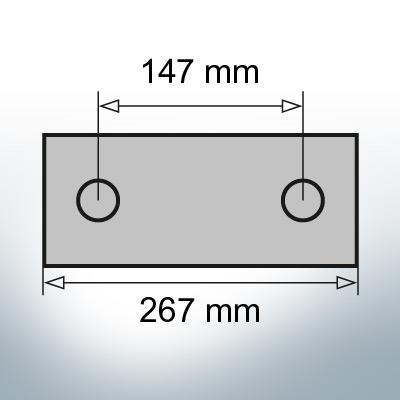 Block- and Ribbon-Anodes Block L267/147 (Zinc) | 9345