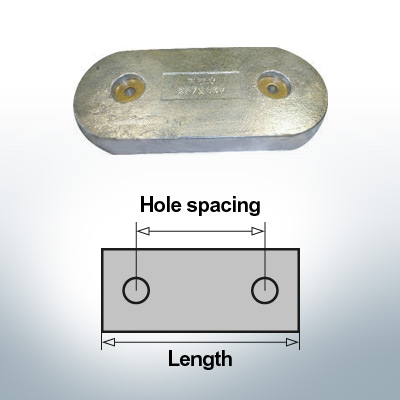 Anodi di blocco e di fusoliera Blocco L267/147 (Zinco) | 9345