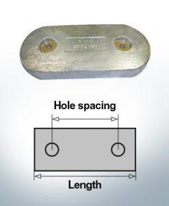 Anodi di blocco e di fusoliera Blocco L267/147 (AlZn5In) | 9345AL