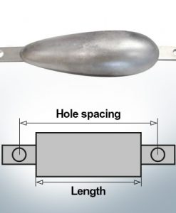 Anodi di blocco e di fusoliera Ovale L170/210 (AlZn5In)   9340AL