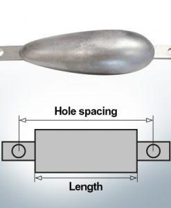 Anodi di blocco e di fusoliera Ovale L180/230 (AlZn5In) | 9349AL