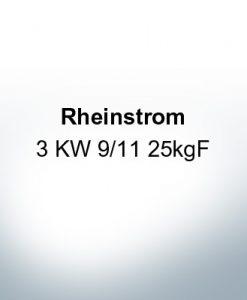Rheinstrom 3 KW 9/11 25kgF (AlZn5In)   9612AL