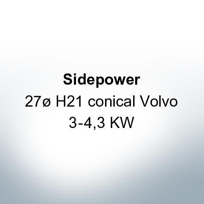 Sidepower 27ø H21 conical Volvo 3-4,3 KW (Zinc)   9617
