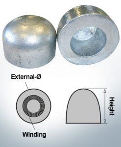 Dadi a cupola M36x1,5 Ø60/H40 (Zinco) | 9404