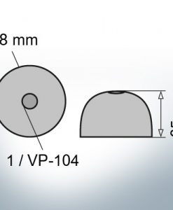 One-Hole-Caps | suitable for VP-104 Ø88/H35 (Zinc) | 9453