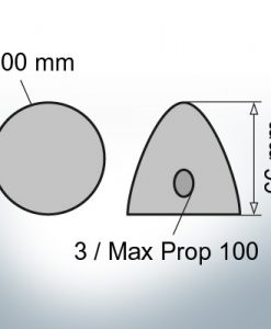 Three-Hole-Caps | Max Prop 100 Ø100/H66 (Zinc) | 9603