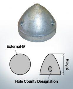 Cappucci a tre fori | Max Prop AN83 Ø80/H60 (Zinco) | 9608