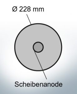 Disk-Anodes Ø228 mm (AlZn5In) | 9804AL