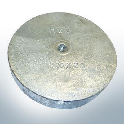 Anodi a linguetta di rifinitura con M8 100x20 Ø100 mm (Zinco) | 9813