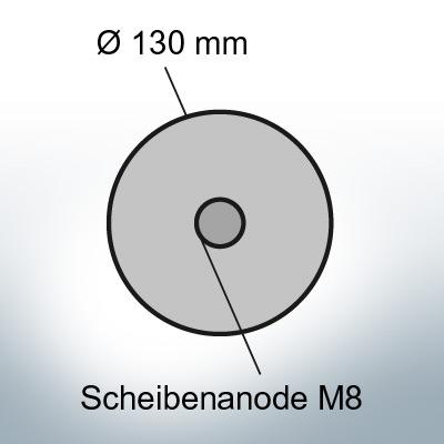 Disk-Anodes Ø 130mm | Bundle (Zinc) | 9814 9815