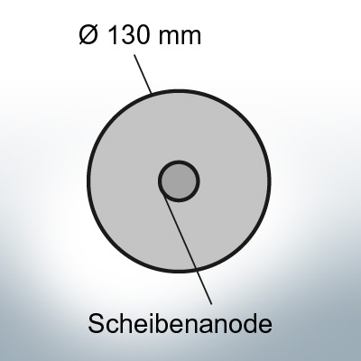 Disk-Anodes Ø 130mm | hole (AlZn5In) | 9815AL