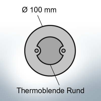 Thermocover round Ø100 mm (Zinc) | 9817