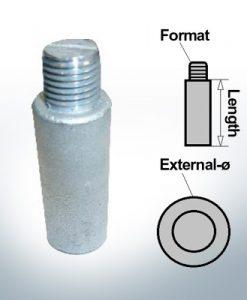 Anodi a spillo M10 Ø14/L40 (AlZn5In) | 9101AL