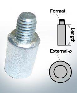 Anodi a spillo M8 Ø13/L20 (AlZn5In) | 9104AL