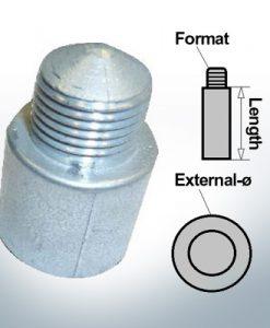Anodi a spillo 3/8'' 16BSW Ø16/L63 (AlZn5In) | 9108AL