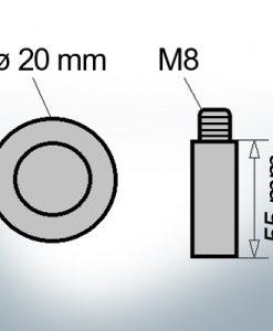Bolt-Anodes M8 Ø20/L55 (Zinc)   9112