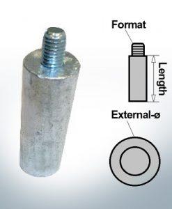 Anodi a spillo M8 Ø20/L55 (AlZn5In) | 9112AL