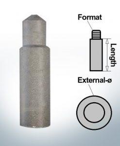 Anodi a spillo 8mm Press Ø10/L27 (AlZn5In) | 9116AL