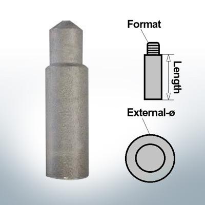 Anodi a spillo 8mm Press Ø10/L27 (Zinco) | 9116