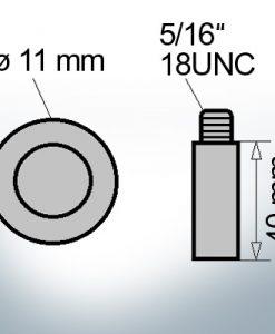 Bolt-Anodes 5/16'' 18UNC Ø11/L40 (Zinc)   9129