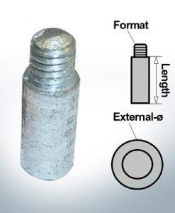 Anodi a spillo 5/16'' 18UNC Ø10/L20 (AlZn5In) | 9133AL