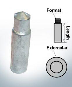 Anodi a spillo 11,7 mm Press Ø14/L40 (AlZn5In) | 9134AL