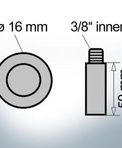 Bolt-Anodes 3/8'' innen Ø16/L50 (Zinc) | 9136