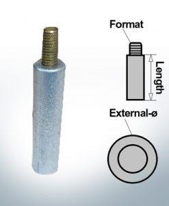 Anodi a spillo 5 mm perno Ø10/L20 (Zinco) | 9144