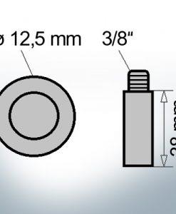 Bolt-Anodes 3/8'' Ø12,5/L38 (Zinc) | 9140