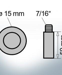 Bolt-Anodes 7/16'' Ø15/L50 (AlZn5In) | 9141AL
