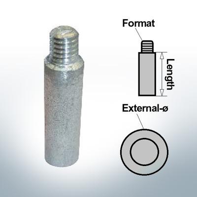 Anodi a spillo compresa 3/8'' compresa la manica Ø18/L42 (Zinco) | 9152