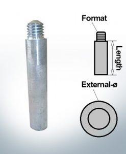 Anodi a spillo M10 perno Ø15/L100 (Zinco) | 9154