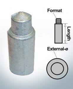 Anodi a spillo 5 mm Press Ø5/L30 (Zinco) | 9156