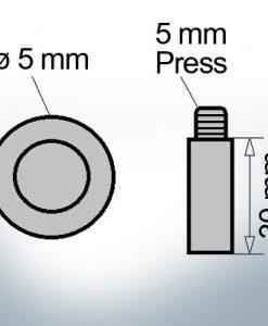 Bolt-Anodes 5 mm Press Ø5/L30 (AlZn5In) | 9156AL