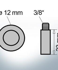 Bolt-Anodes 3/8'' Ø12/L33 (Zinc)   9158