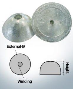 Cappucci a un foro | adatti per VP-76 Ø67/H27 (AlZn5In) | 9452AL