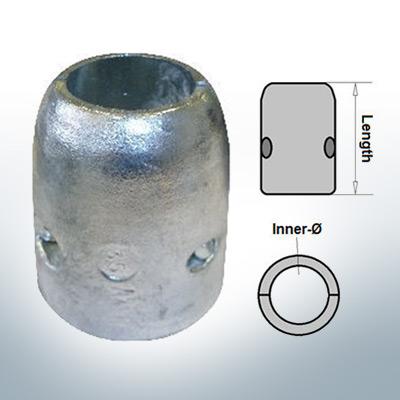 Anodo ad onda con diametro interno metrico 25 mm (Zinco)   9002