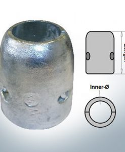 Anodo ad onda con diametro interno metrico 20 mm (Zinco) | 9001