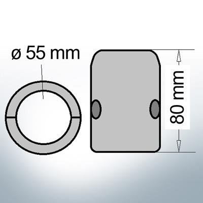 Shaft-Anode with metric inner diameter 55 mm (Zinc)   9008
