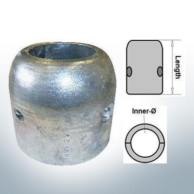 Anodi ad onda con diametro interno in pollici 2 1/4'' (Zinco) | 9021
