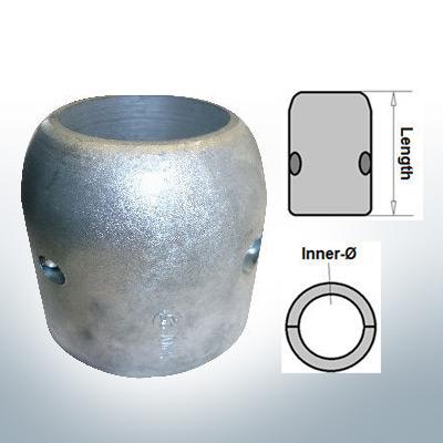 Anodi ad onda con diametro interno in pollici 2 3/4'' (Zinco)   9023
