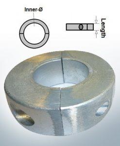 Anodi ad onda anelli con diametro interno metrico 25 mm (Zinco) | 9032