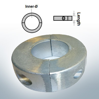 Anodi ad onda anelli con diametro interno metrico 25 mm (Zinco)   9032