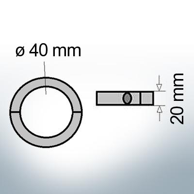 Shaft-Anode-Rings with metric inner diameter 40 mm (Zinc)   9035
