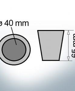 Anodi di estremità dell'albero con chiave di ritenzione 40 mm (Zinco) | 9440