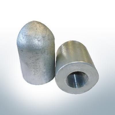 Anodo di estremità dell'albero conico 1'' tubo (AlZn5In) | 9449AL